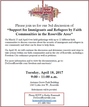 Immigration meeting Apr 18 2017