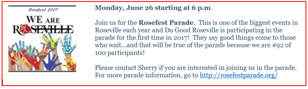 Rosefest parade for DGR