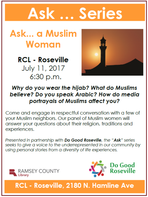 Ask a Muslim with outline