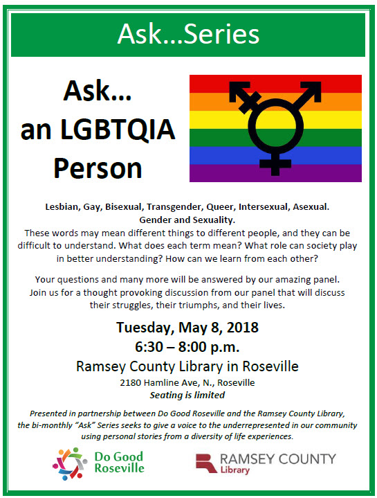 Ask an LGBTQIA person flyer picture