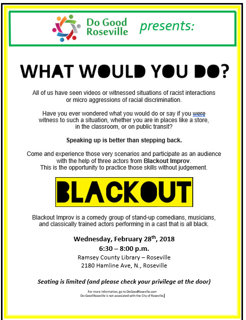Blackout Improv flyer picture