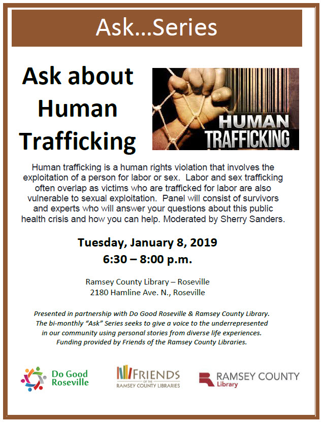 flyer picture ask about human trafficking